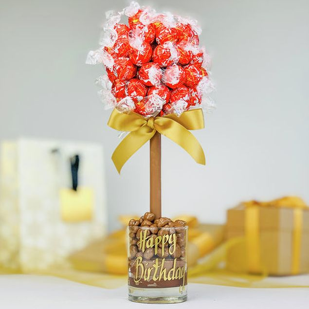The Red Lindor Choc Tree - 35cm Hamper