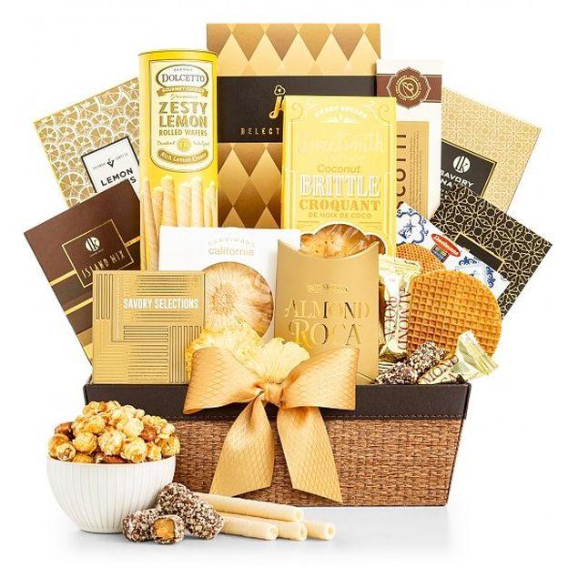 The Golden Gift Basket Hamper
