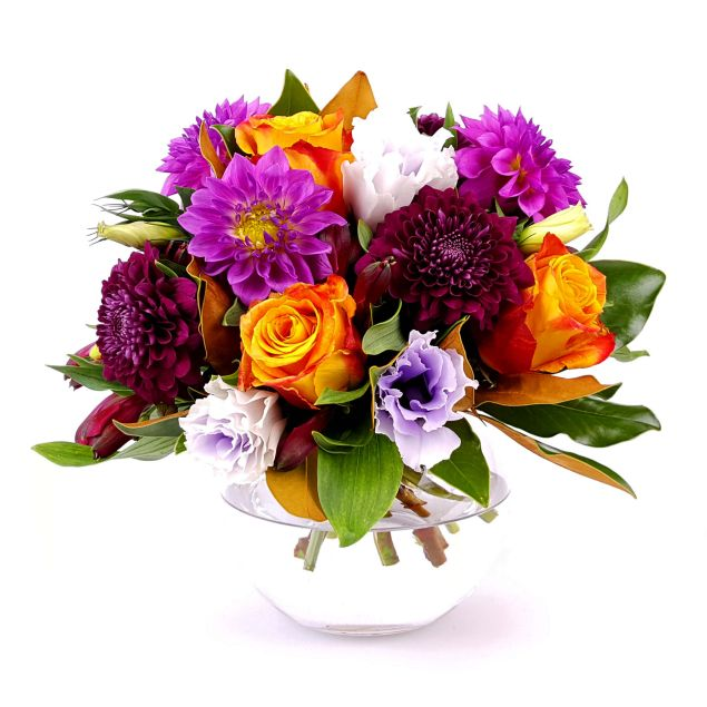 Colourful Posy in a Vase Hamper