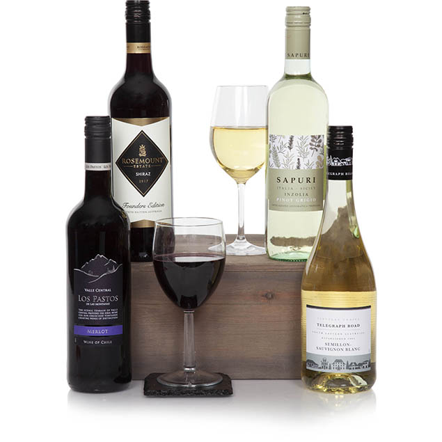 Classic Four Bottle Wine Gift Hamper