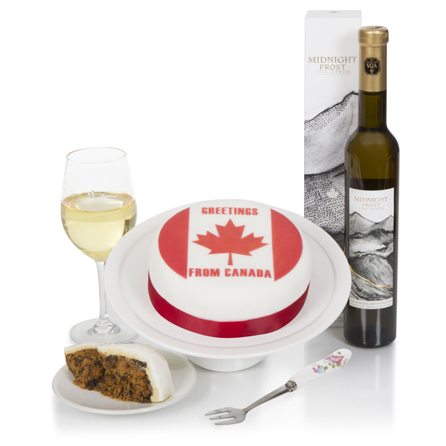 Canadian Ice Wine & Cake Hamper