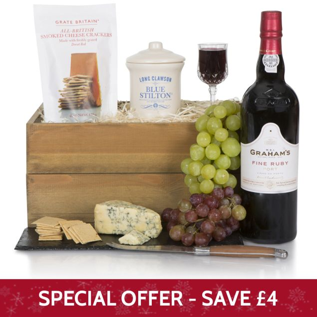 Luxury Port and Blue Stilton Hamper Hamper