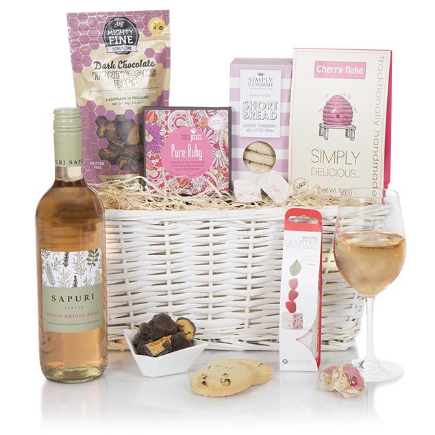 Pretty In Pink Gift Basket Hamper