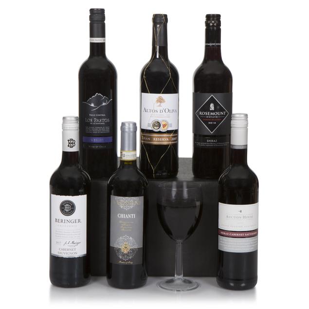 Six Bottle Red Wine Selection Hamper