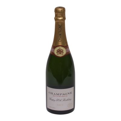 Happy 50th Birthday Bottle Of Champagne 75cl