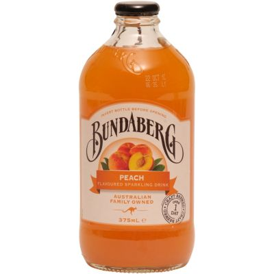 Bundaberg Peach flavoured Sparkling Drink 375ml