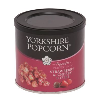 Yorkshire Strawberry & Cherry Toffee Popcorn 90g