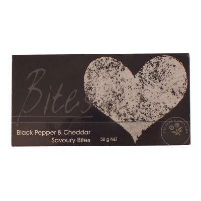 Herb & Spice Mill Black Pepper & Cheddar Bites 50g