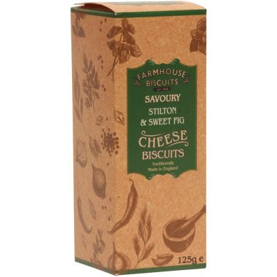 Farmhouse Biscuits Stilton & Fig Biscuits for Cheese 125g