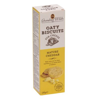 Grandma Wilds Mature Cheddar Oaty Biscuits 130g