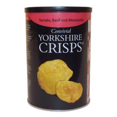 Yorkshire Crisps Tomato Basil & Mozzarella Flavour 100g