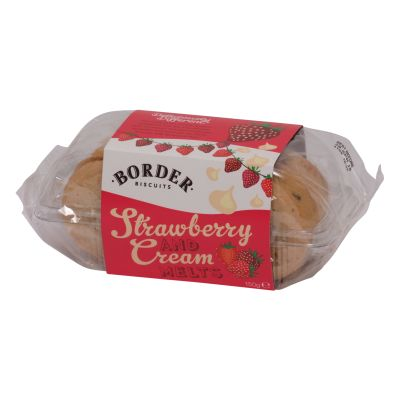 Border Biscuits Strawberry & Cream Melts 150g