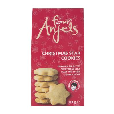 100g Four Anjels Shortbread Stars