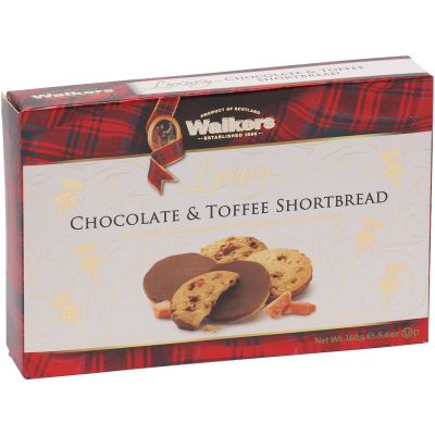 Walkers Luxury Chocolate & Toffee Shortbread 160g
