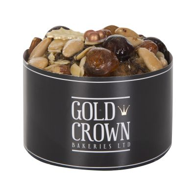 400g Gold Crown Round Gold Dusted Christmas Cake