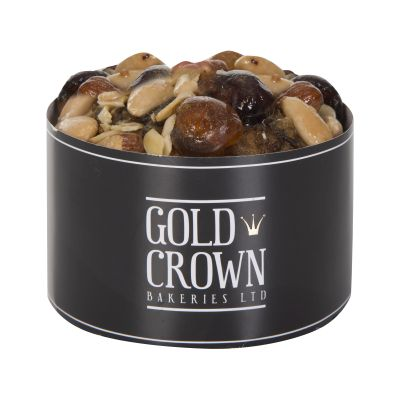Gold Crown Round Fruit Cake with Gold Dusted Decoration