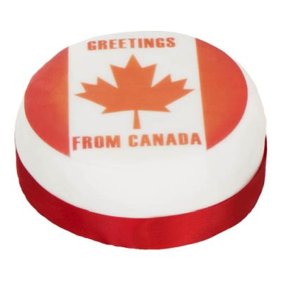 Iced & Decorated ''Greetings from Canada'' Cake 1000g