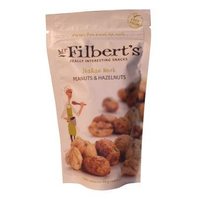 Mr Filberts Italian Herb Peanuts & Hazels 120g