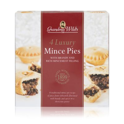 Grandma Wilds 4 Luxury Mince Pies with Brandy