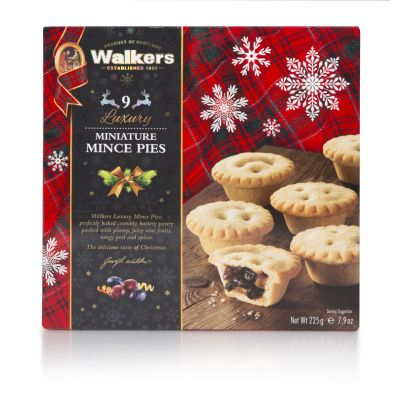 Walkers 9 Luxury Mini Mincemeat Tarts 225g