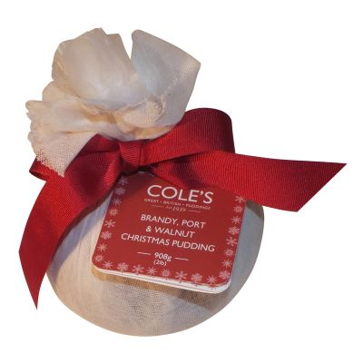 Coles Brandy Port & Walnut Xmas Pudding in Mu 908g
