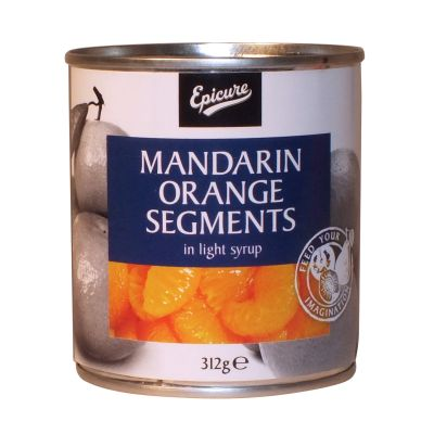 Epicure Mandarin Orange Segments in Light Syrup 312g