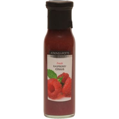 Atkins & Potts Raspberry Coulis 250g