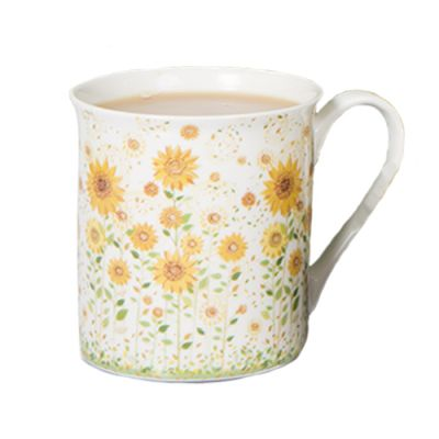 Boxed Sunflowers Mug