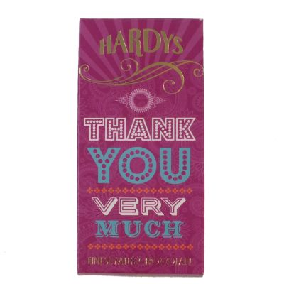 Hardys Thank You Chocolate Bar 80g