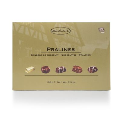 Excelcium Assorted Pralines in Gold Box 180g