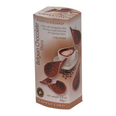 Belgian Chocolate Cappuccino Thins 80g