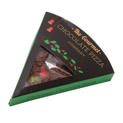 Gourmet Chocolate Pizza Company Christmas Slice 50g