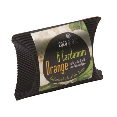 Coco Pzazz Orange & Cardamom Chocolate drops 25g