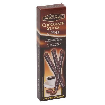 Maitre Truffout Dark Chocolate Coffee Sticks 75g