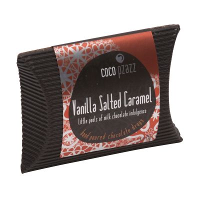 Coco Pzazz Vanilla Salted Caramel Chocolate Drops 25g