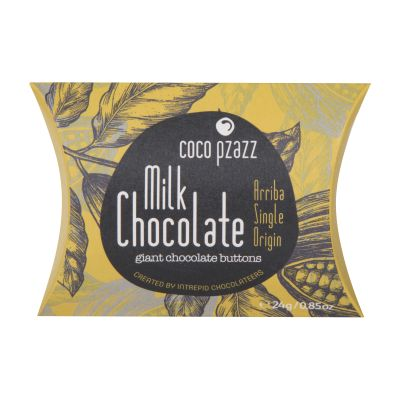 24g Coco Pzazz Milk  Chocolate Giant Chocolate Buttons