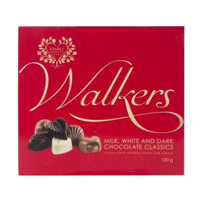 120g Walkers Milk White and Dark Classic Chocs in Red