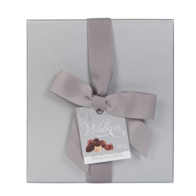 120g Walkers Milk White and Dark Classic Chocs in Silver Box