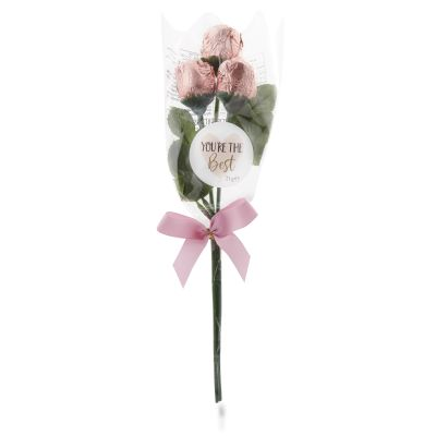 Chocolate Roses In Pink Foil