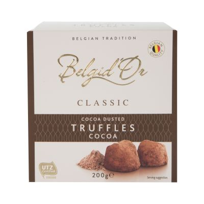 200g Belgid Or Cocoa Dusted Truffles